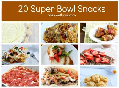 20 Super Bowl Food ideas ohsweetbasil.com