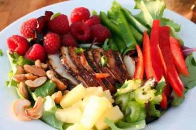 teriyaki chicken salad ohsweetbasil.com