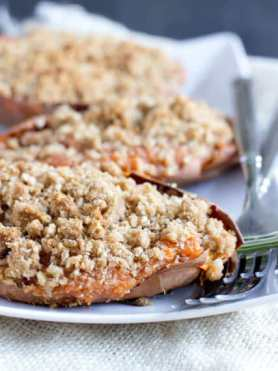 #Thanksgiving is going to be delicious with these twice baked sweet potato souffles with a brown sugar crumb topping ohsweetbasil.com_-4