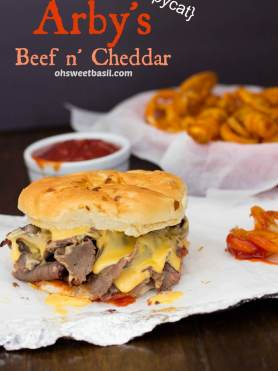 Arby's Beef n' Cheddar copycat recipe that's just like the original and easy to make! ohsweetbasil.com