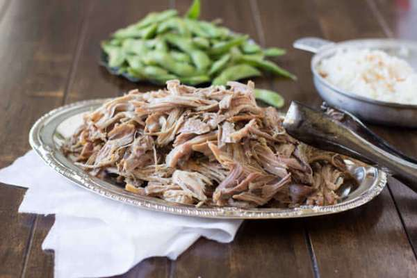Oh my deliciousness!! This Hawaiian pork only takes 3 ingredients and is our all time favorite pork ohsweetbasil.com