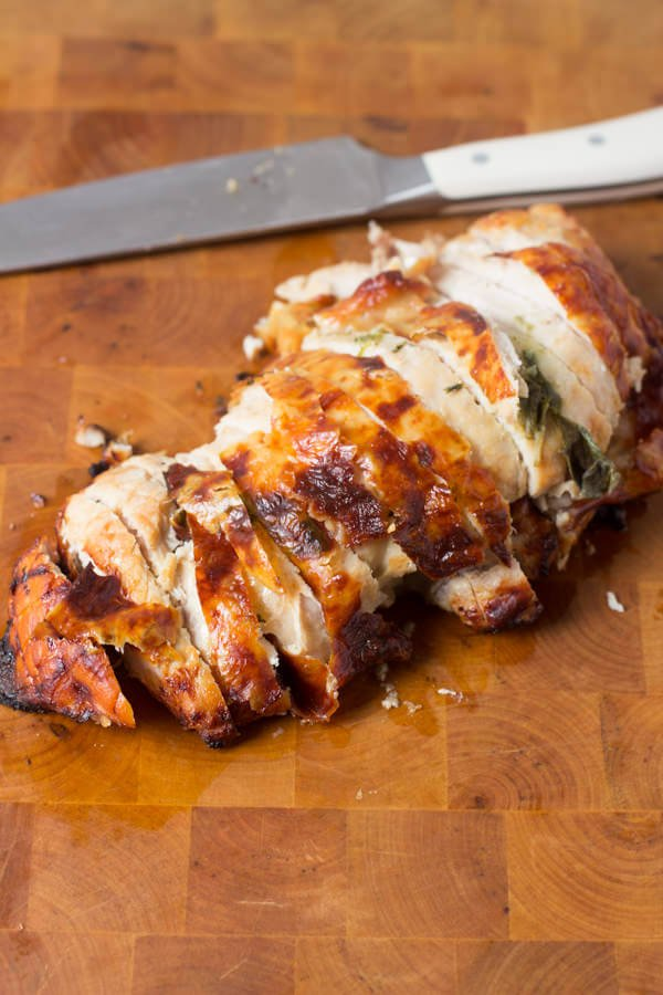 Sage Roasted Turkey Breast is way easier than cooking the whole bird and still just as juicy and delicious ohsweetbasil.com-2