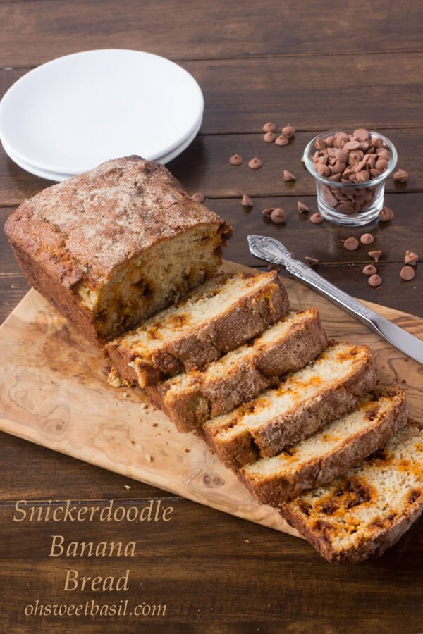 Snickerdoodle Banana Bread is about to be the new favorite in your life! ohsweetbasil.com
