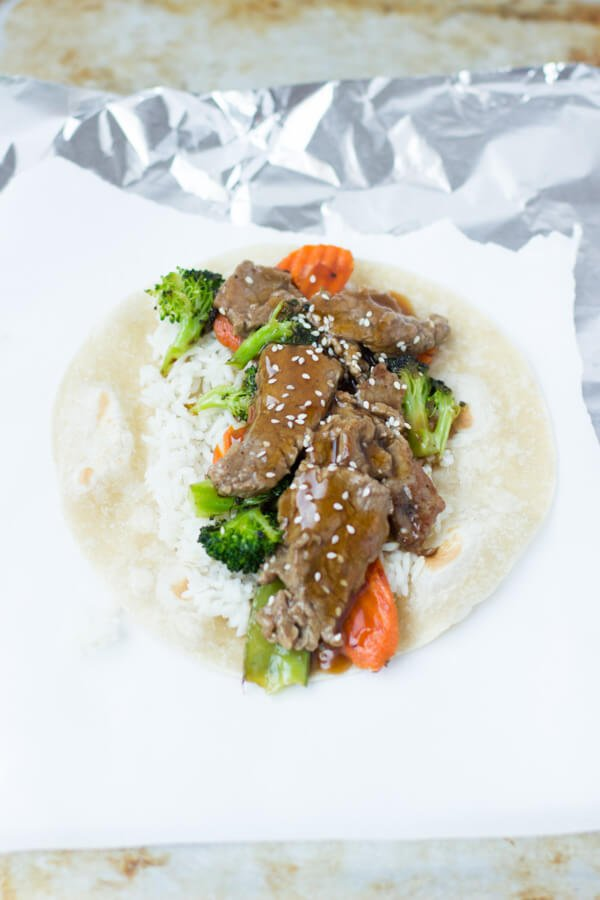 teriyaki beef wrap for a quick dinner! ohsweetbasil.com-2