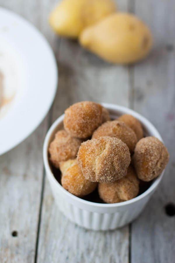 Old Fashioned Cinnamon Sugar Spudnut Donuts