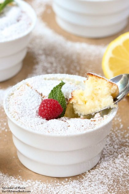 Lemon Pudding Cakes - lemon flavor baked into a light and delicate treat!