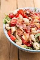 A favorite summer recipe! California Club Pasta Salad ohsweetbasil.com