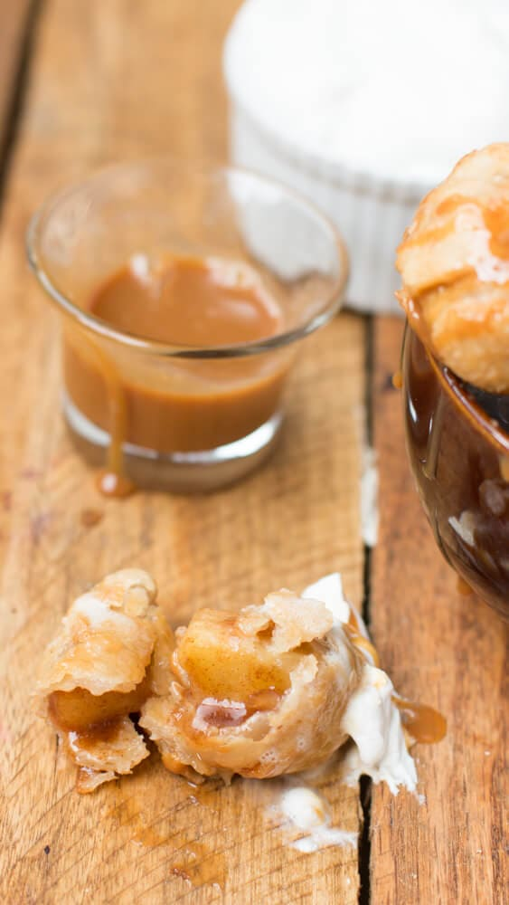 fried apple pie bombs served a la mode! ohsweetbasil.com