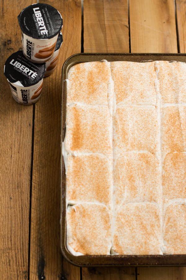 caramel spice poke cake ohsweetbasil.com