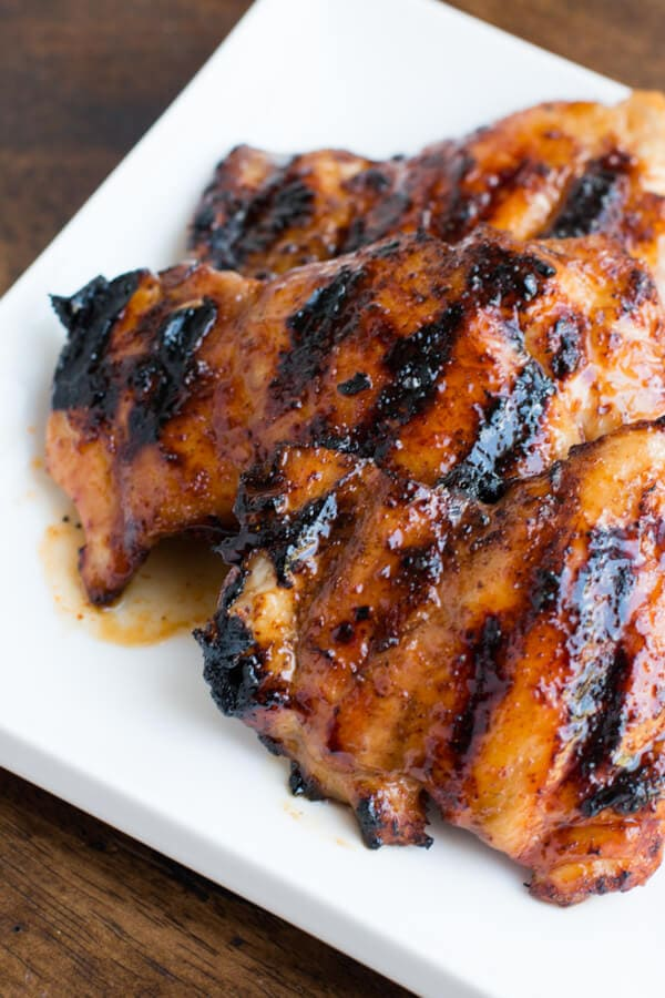 Fantastic sticky honey lime grilled chicken! ohsweetbasil.com