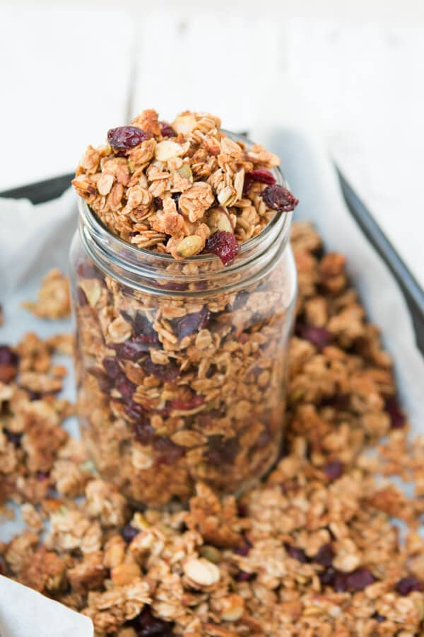 our best granola recipe, strawberry almond ohsweetbasil.com