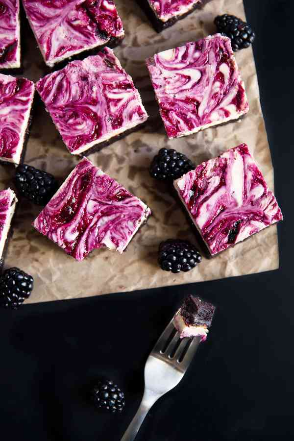 BlackBerry-Cheesecake-Brownies