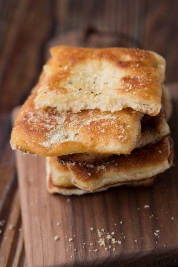 Easy Garlic Parmesan Fry Bread ohsweetbasil.com