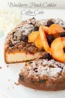 My favorite breakfast! Blackberry Peach Cobbler Coffee Cake ohsweetbasil.com