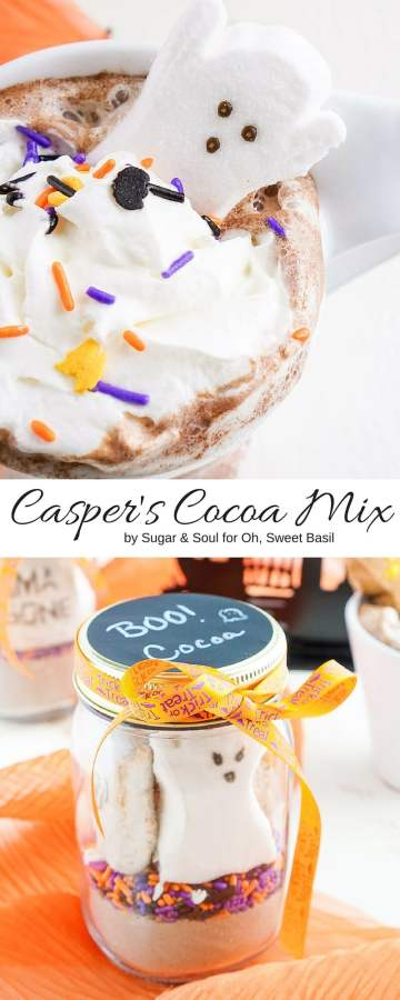 Casper's Cocoa Mix is the perfect way to warm up after a night of trick or treating and makes a great party favor too!