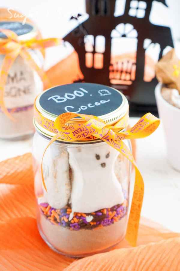 Casper's Cocoa Mix is the perfect way to warm up after a night of trick or treating and makes a great party favor too! Halloween
