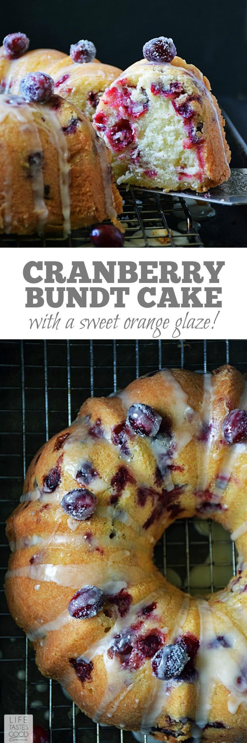 Cranberry Bundt Cake Oh Sweet Basil