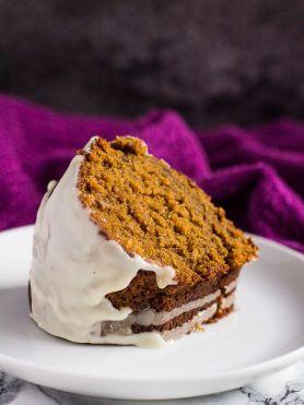 Gingerbread Bundt Cake with Maple Glaze