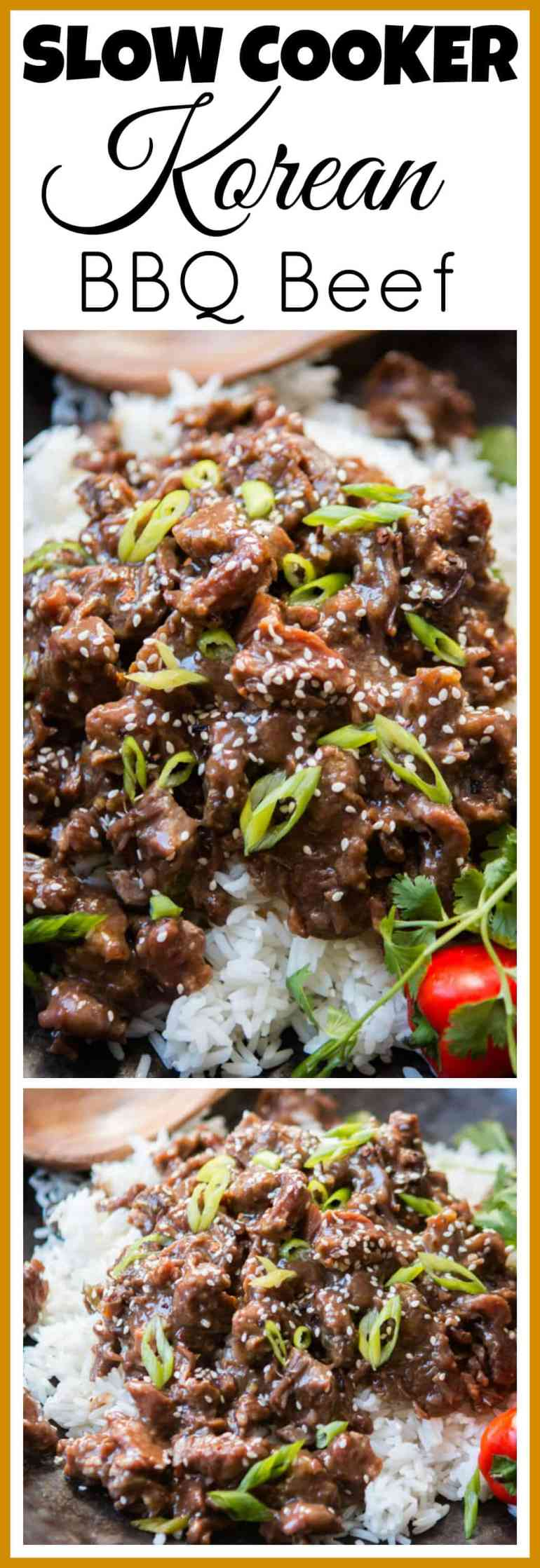 This is so happening for dinner. Slow Cooker Korean BBQ Beef recipe from Damn Delicious's new Cookbook. Seriously one of our family's favorites!