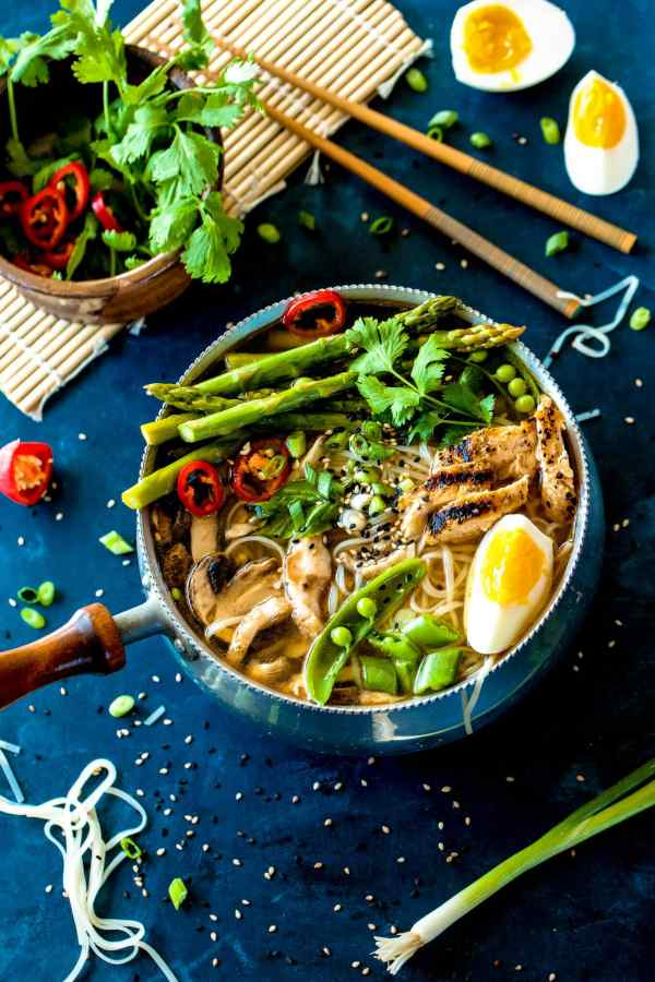 This quick and easy hot and sour soup with spring vegetables is loaded with flavor! It's even better than a restaurant but so easy!!