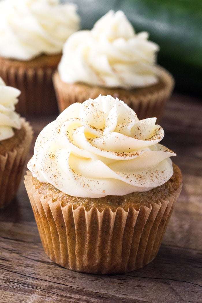 Zucchini Spice Cake Cupcakes