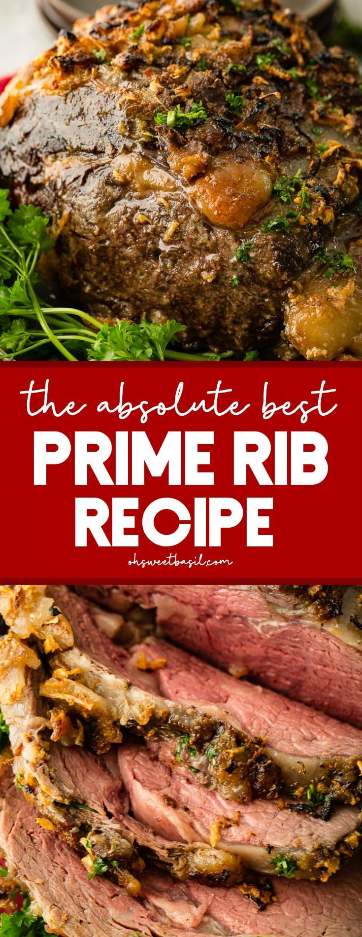garlic prime rib on a platter