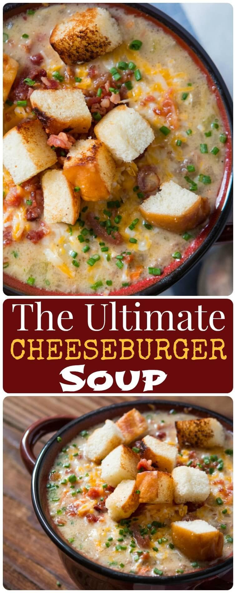 American's love a juicy, cheesy hamburger but what if you could turn it into an easy soup perfect all year round? The Ultimate Cheeseburger Soup is here!