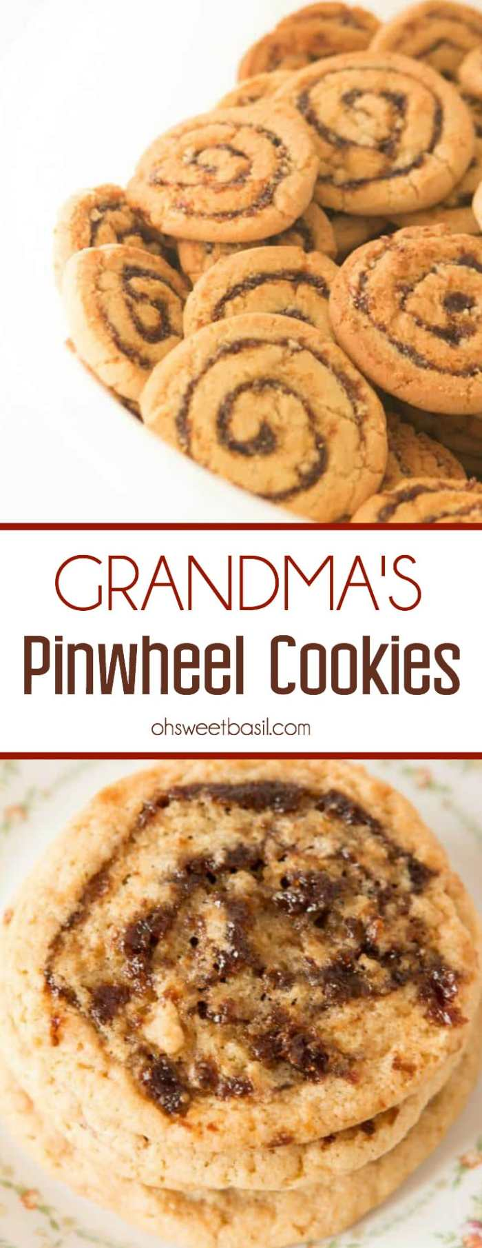 A bowl full of my grandmother's famous pinwheel cookies