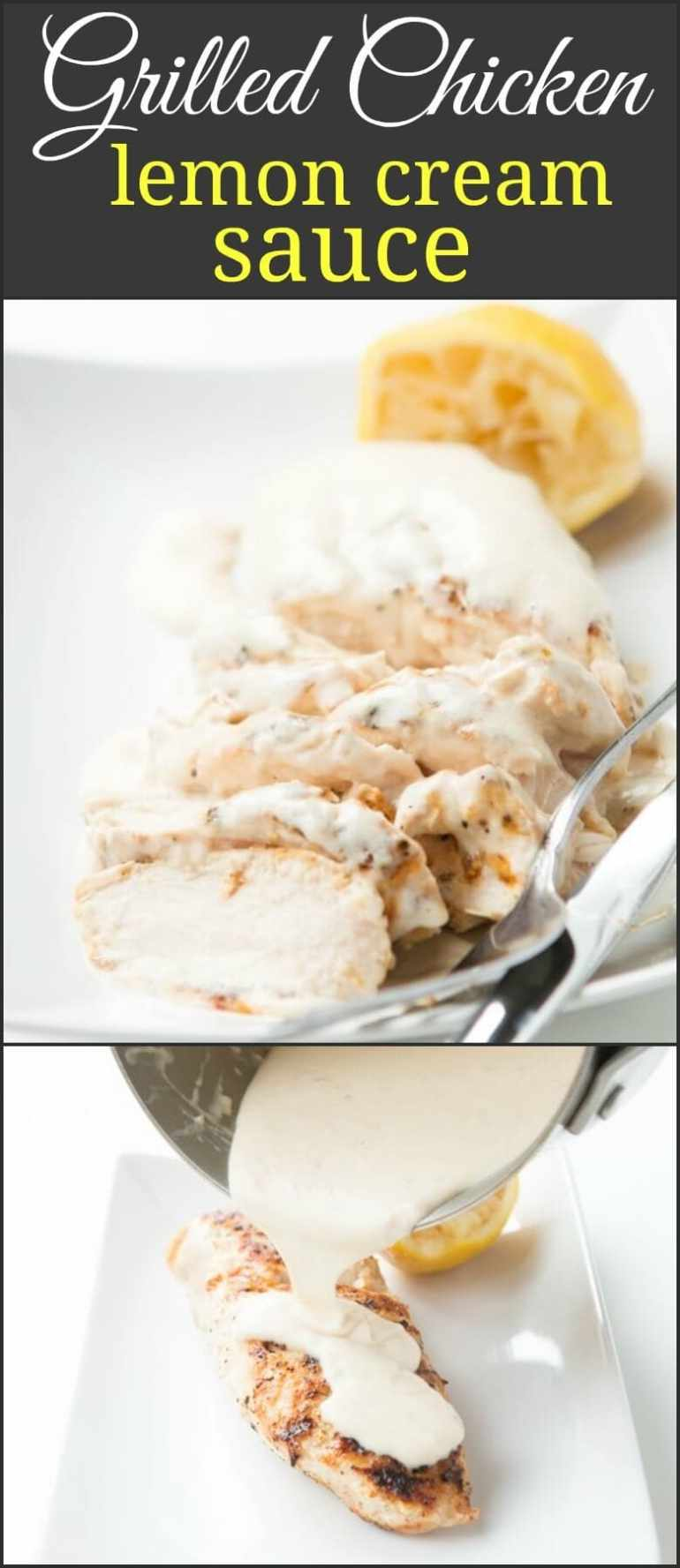 If you don't have your chicken with sauce often or ever, then this Grilled Chicken with Lemon Cream Sauce will change your mind about this duo!