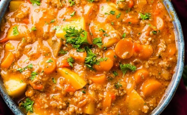 Quick And Easy Ground Beef Stew Oh Sweet Basil