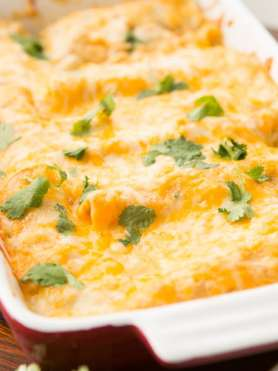 These Honey Lime Chicken Enchiladas have changed our view of Enchiladas forever. The marinated chicken and cheese are so good!