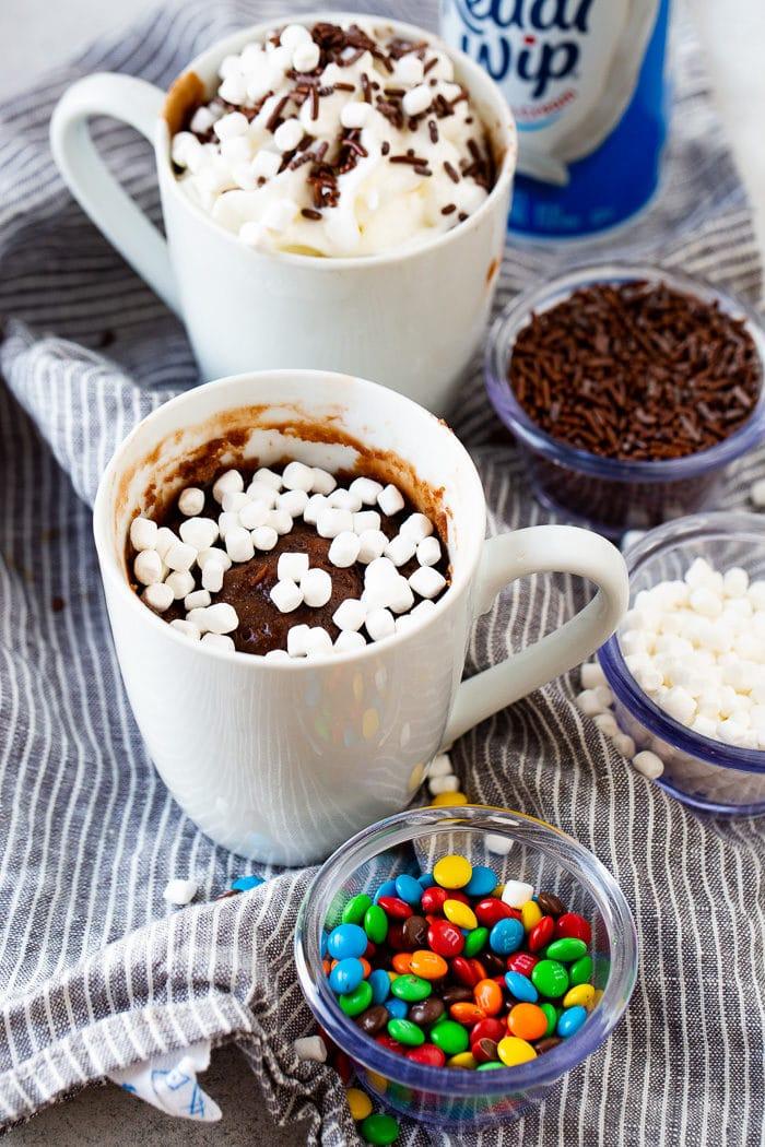 hot cocoa mug brownie for one