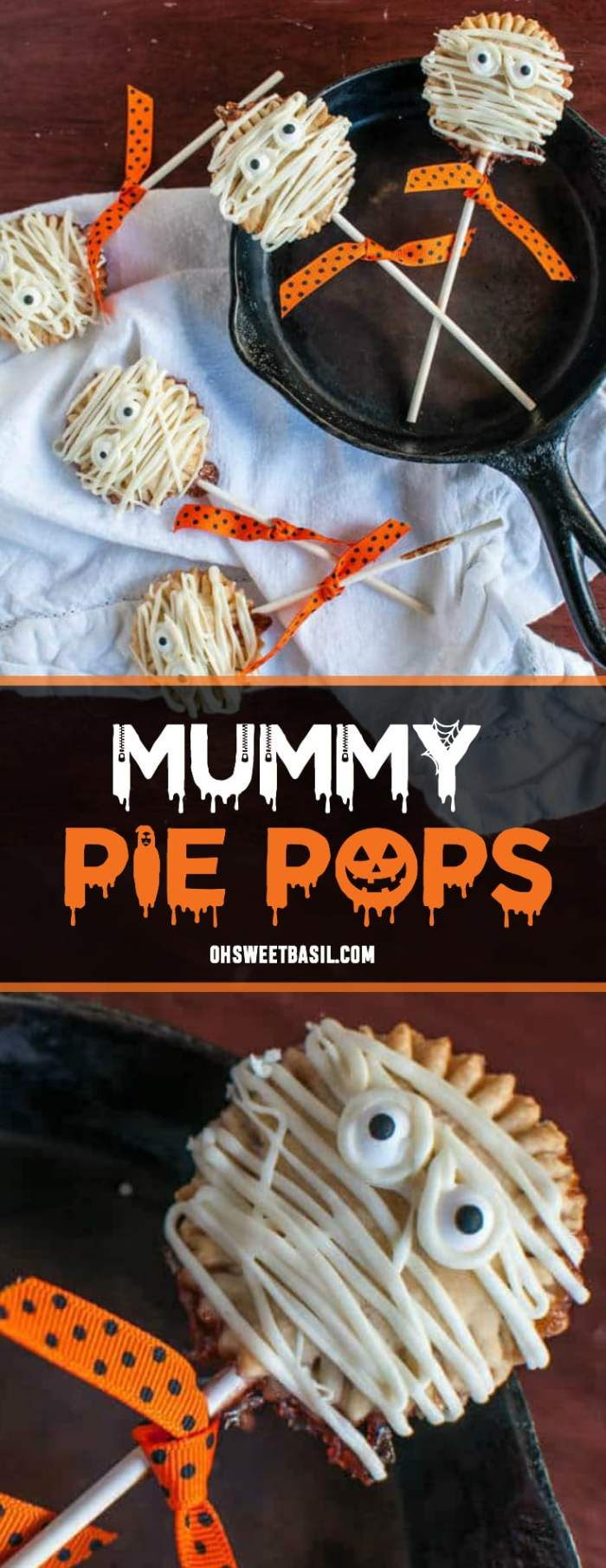 The cutest Mummy Pie Pops for Halloween
