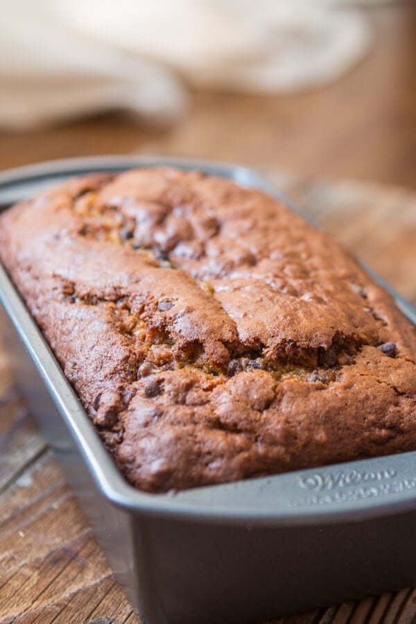 Every year the internet explodes with pumpkin recipes but what you really need is a perfect pumpkin chocolate chip bread recipe and I've got you covered. ohsweetbasil.com