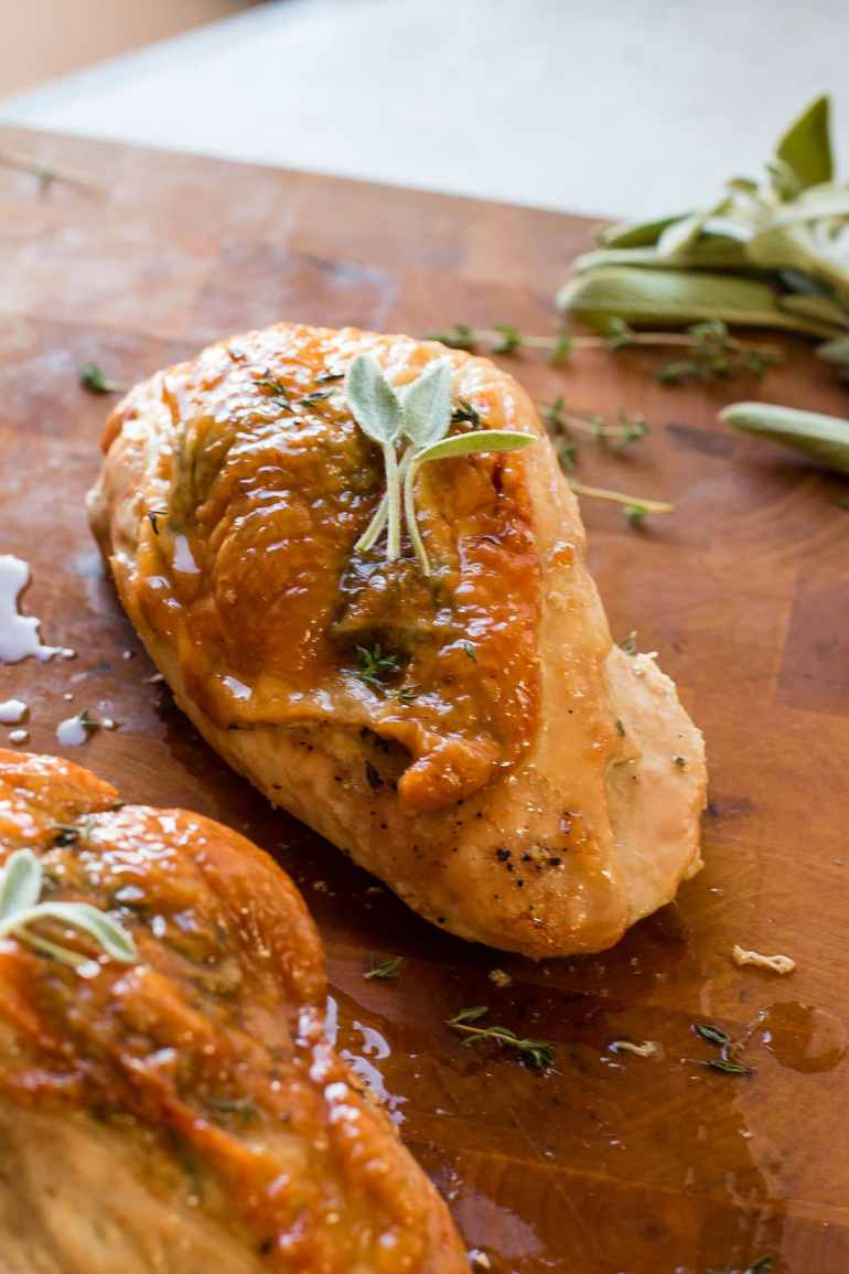 If you don't want to cook an entire turkey for Thanksgiving make sure you make this herb roasted turkey breast. We love it and it's such an easy way to cook turkey! ohsweetbasil.com