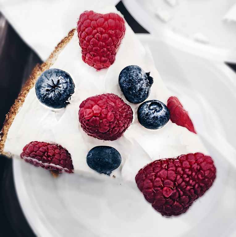 close up of berry pie