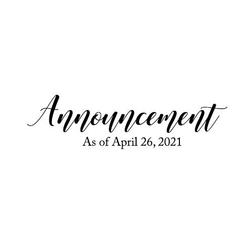 Announcement!