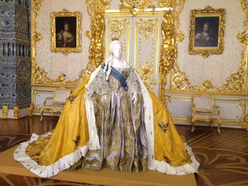 Just one of many artifacts of opulent clothing on display.