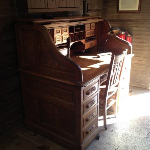 desk at Jack Daniel's
