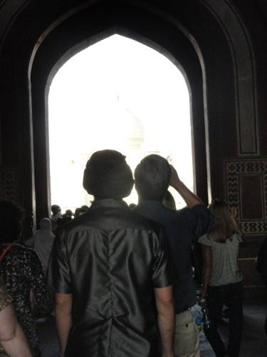 crowds at Taj Mahal
