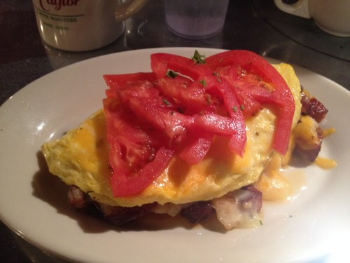 Cajun sausage omelet at Goldy's