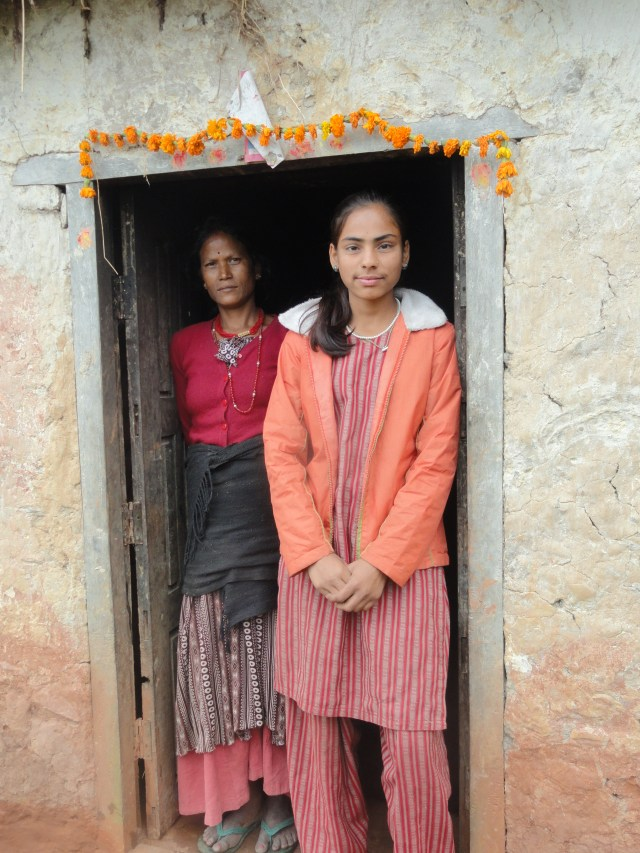 Women in doorway in Nepal