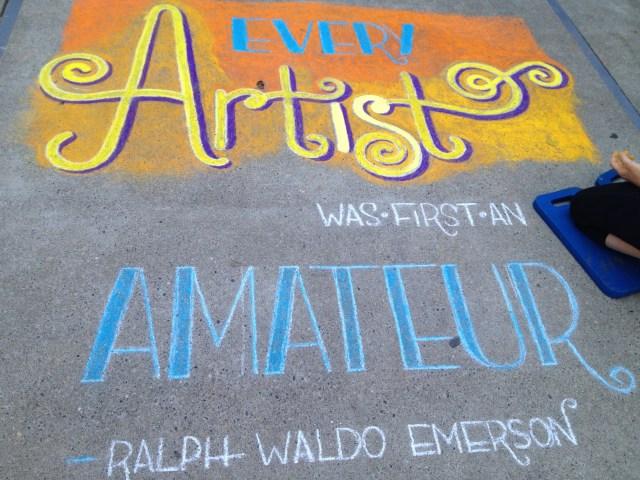 Chalk Walk: Emerson quote