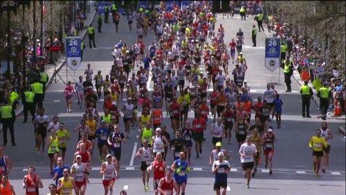 Runners, Boston Marathon