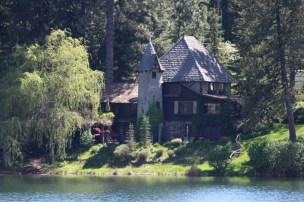 Beautiful homes like this one take advantage of lake view.