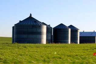 Grain storage on the Palouse