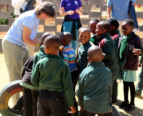 Kim Kreitner (Baltimore) shares her pictures with schoolkids in Lesotho.