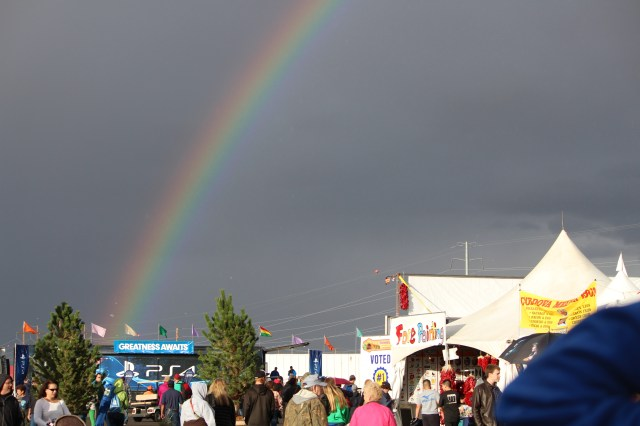 Rainbow over Balloon Fiesta 2014