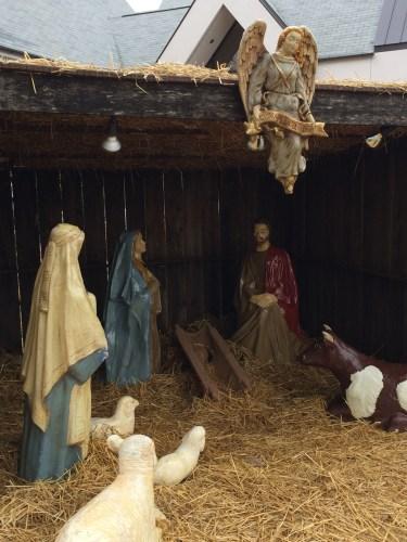 Manger scene missing Baby Jesus