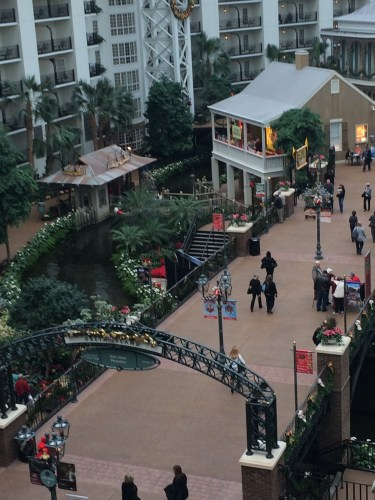 View from above of the shopping areas in Gaylord Opryland Resort